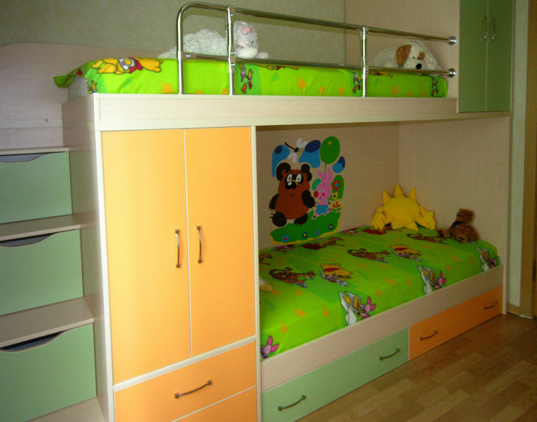 Детская двухъярусная мебель фото