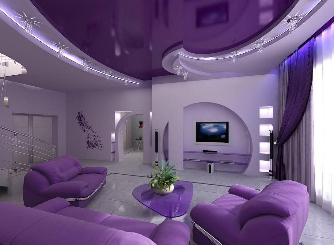 Дизайн интерьеры с натяжными потолками